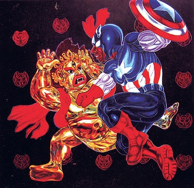 Captain America Playing With Bhairav