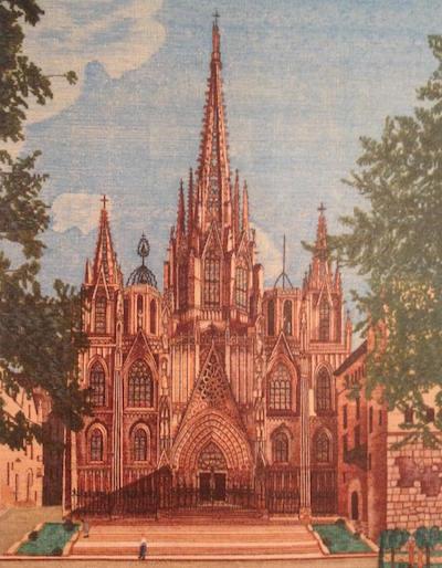 Vista de la Catedral i el Pia de la Seu