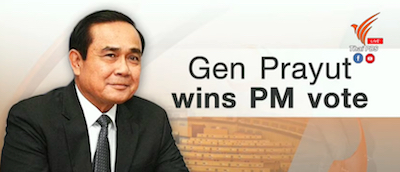 Gen Prayut wins PM vote